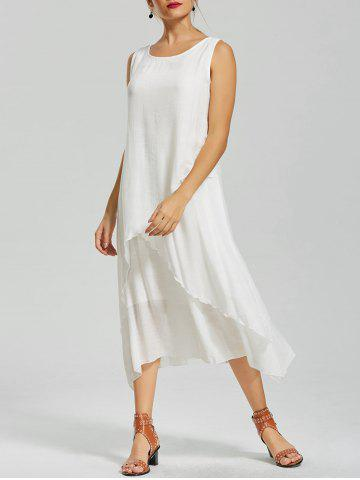 New Flouce Casual Flowy Long Shift Tea Length Dress