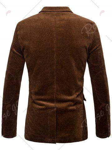 Shops Elbow Patch Single Breasted Corduroy Blazer - 3XL BROWN Mobile