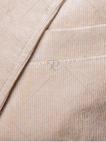 Sale Elbow Patch Single Breasted Corduroy Blazer - 3XL OFF-WHITE Mobile
