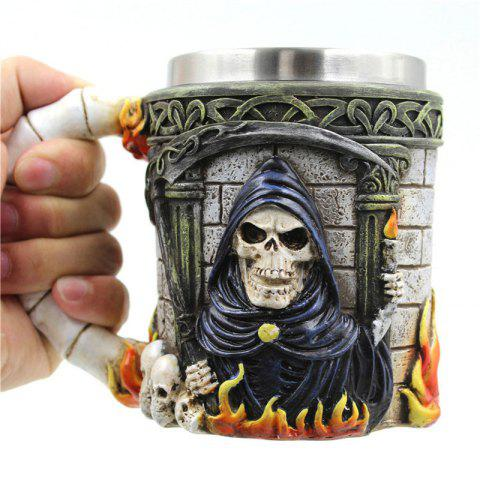 Shop 3D Skull Stainless Steel Mug for Bar Party Game COLORFUL
