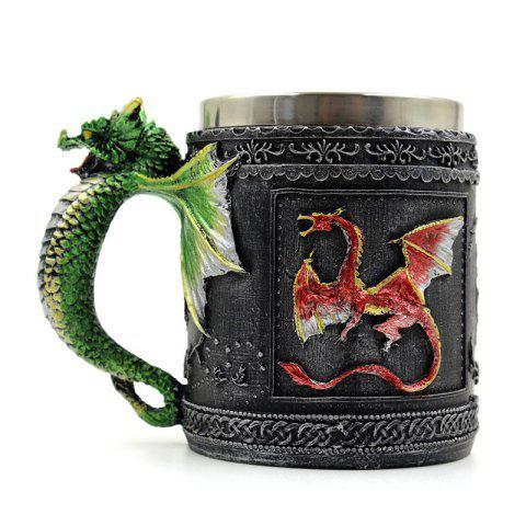 Shops Novelty Stainless Steel 3D Dragon Mug