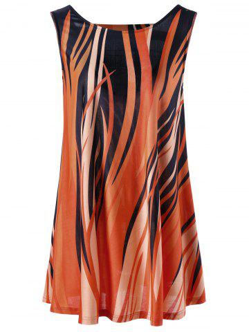 Shop Plus Size Fire Print Dressy Tank Top