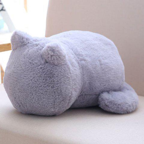 Outfits Stuffed Toys Cat Back Cushion Throw Pillow - GRAY  Mobile