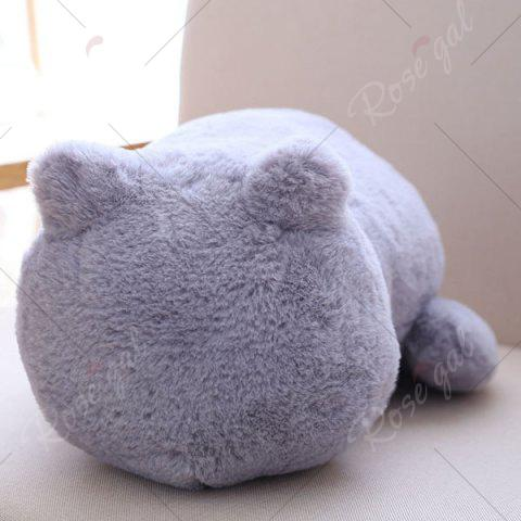 New Stuffed Toys Cat Back Cushion Throw Pillow - GRAY  Mobile