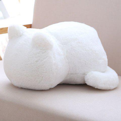 Outfit Stuffed Toys Cat Back Cushion Throw Pillow WHITE
