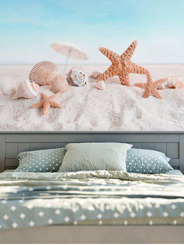 Home Decor Wall Hanging Beach Landscape Tapestry - Light Blue - W59 Inch * L79 Inch