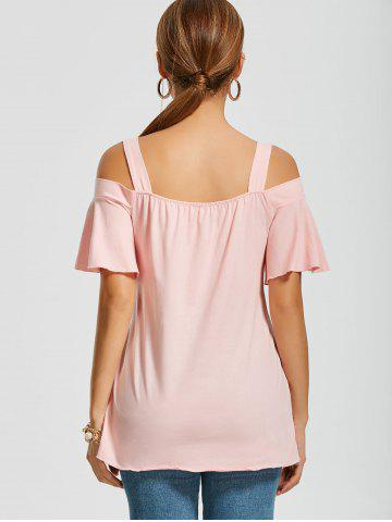 New Asymmetrical Cold Shoulder Top - 2XL PINK Mobile