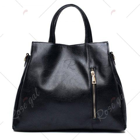 Online Crocodile Embossed Handbag with Wallet - BLACK  Mobile