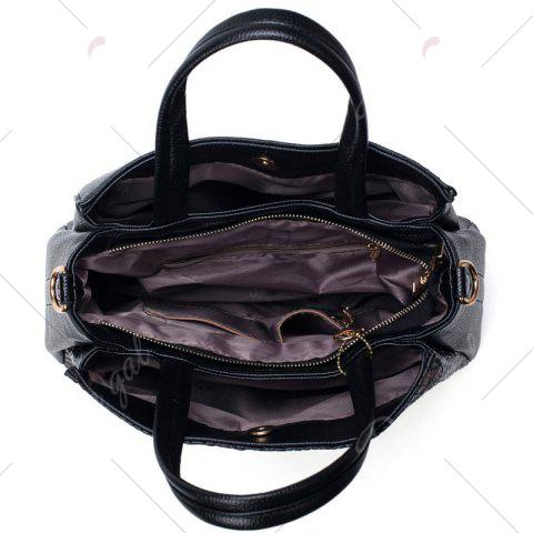 Buy Crocodile Embossed Handbag with Wallet - BLACK  Mobile