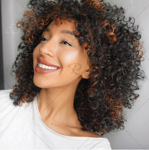 Cheap Adiors Highlight Medium Afro Curly Side Bang Synthetic Wig - COLORMIX  Mobile