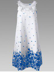 Lace Panel Racerback Floral Tent Dress