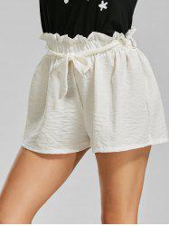 Elastic Waist Mini Summer Shorts with Belt