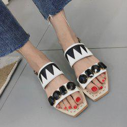 Flat Heel Geometric Pattern Sandals