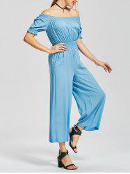 Ankle Length High Waisted Off The Shoulder Jumpsuit