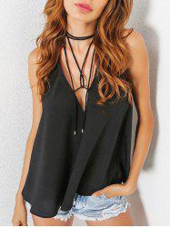 Backless Plunging Neckline Tank Top