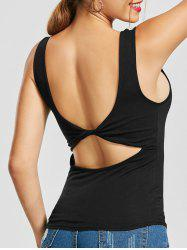 Knot Back Cut Out  Tank Top