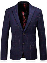 Lapel Checked Slim Fit Single Breasted Blazer