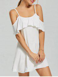 Cold Shoulder Shift Mini Dress
