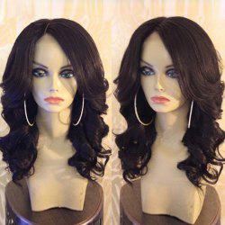 Medium Shaggy Side Part Body Wave Synthetic Wig - BROWN
