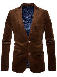 Elbow Patch Single Breasted Corduroy Blazer