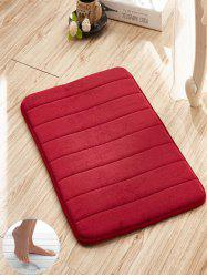 Slow Rebound Memory Coral Fleece Striped Door Mat