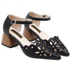 Embroidery Hollow Out Sandals