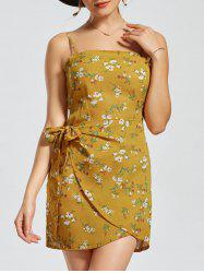 Mini Cut Out Back Floral Print Slip Dress