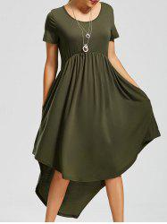 Pockets High Low Dress