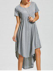 Asymmetric Maxi High Low Swing Dress