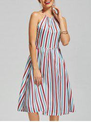 Colorful Stripe Midi Dress