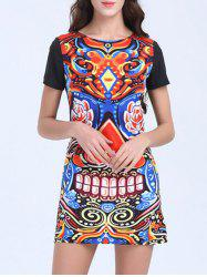 Short Sleeve Mini Printed Dress