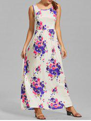 Casual Floral Pockets Long Dress