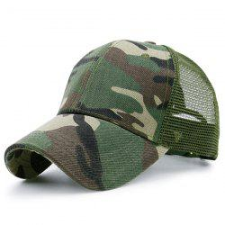 Mesh Spliced Camo Pattern Baseball Hat - ACU CAMOUFLAGE