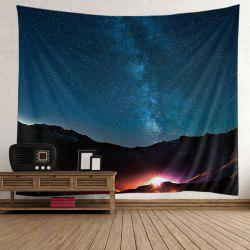 Home Decor Night Sky Mountain Wall Tapestry