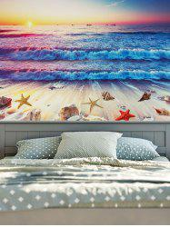 Wall Hanging Decorated Beach Scenery Tapestry
