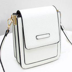 Flap Cross Body Mini Bag - WHITE