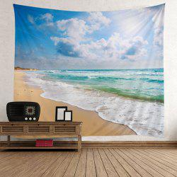 Home Decor Beach Theme Wall Tapestry - LIGHT BLUE