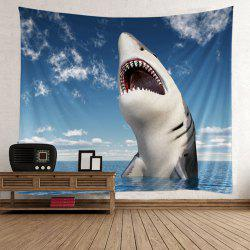 Home Decor Shark Beach Wall Tapestry -