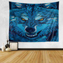 Cartoon Wolf Print Tapestry Wall Hanging Art Decoration
