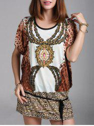 Oversized Tribal Print Mini Dress