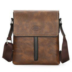 Flap Faux Leather Crossbody Bag