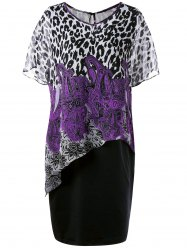 Leopard and Paisley Plus Size Twinset Dress