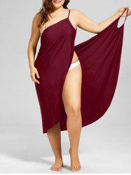 Beach Cover-up Plus Size Wrap Dress