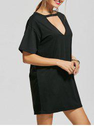 Low Out T Shirt Choker Dress