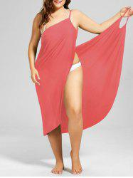 Beach Cover-up Plus Size Wrap Dress -