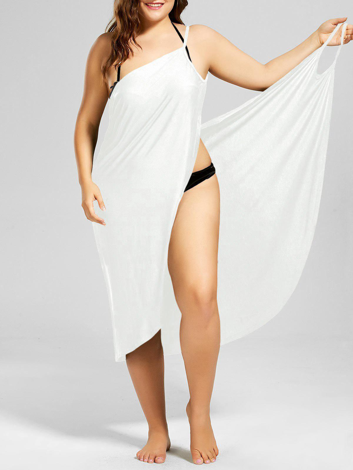 Fancy Beach Cover-up Plus Size Wrap Dress
