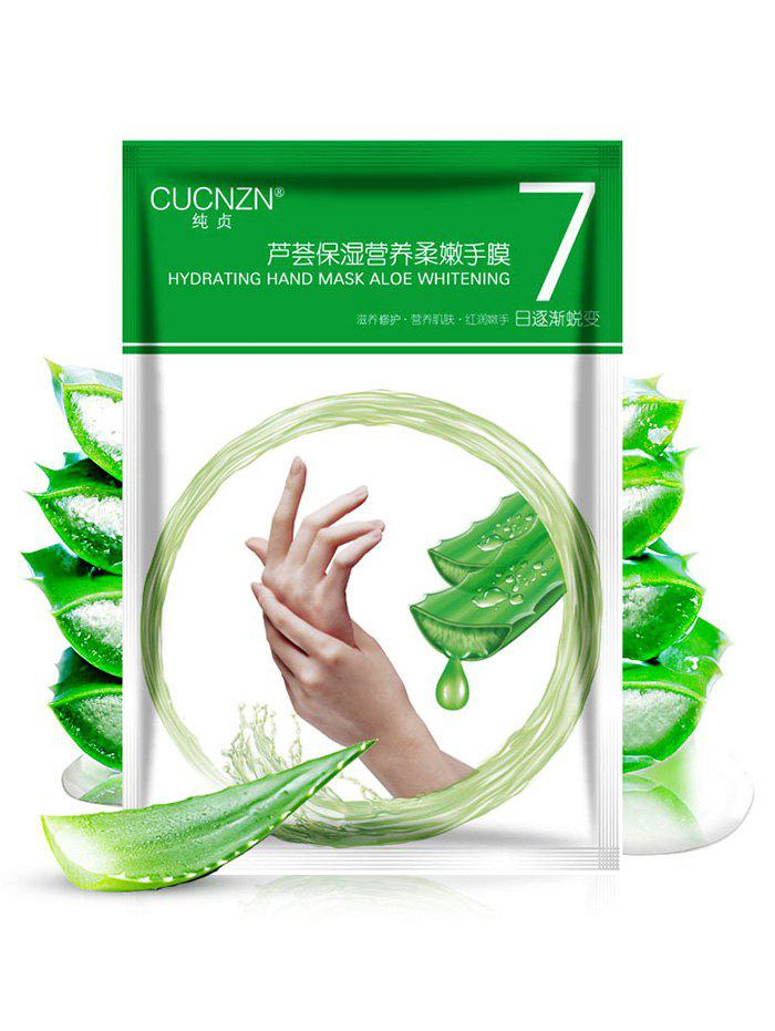 1 Pair Milk and Aloe Essence Repaired Hand MaskBEAUTY<br><br>Color: GREEN; Item Type: Hand Mask; Weight: 0.0100kg; Package Content: 1 x Bag;