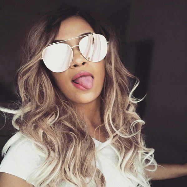 Long Inclined Bang Colormix Wavy Synthetic WigHAIR<br><br>Color: COLORMIX; Type: Full Wigs; Cap Construction: Capless (Machine-Made); Style: Wavy; Material: Synthetic Hair; Bang Type: Side; Length: Long; Length Size(CM): 65; Weight: 0.3000kg; Package Contents: 1 x Wig;