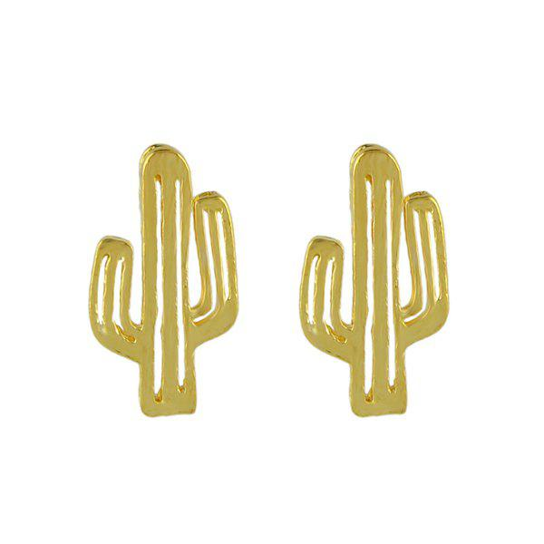 Sale Metal Alloy Cactus Stud Earrings