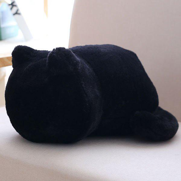 Stuffed Toys Cat Back Cushion Throw PillowHOME<br><br>Color: BLACK; Type: Decorative Pillows; Materials: Polyester / Cotton; Shape: Animal; Pattern Type: Animal,Cartoon; Package Size ( L x W x H ): 33.00 x 24.00 x 18.00 cm / 12.99 x 9.45 x 7.09 inches; Weight: 2.8512kg; Package Contents: 1 x Pillow;